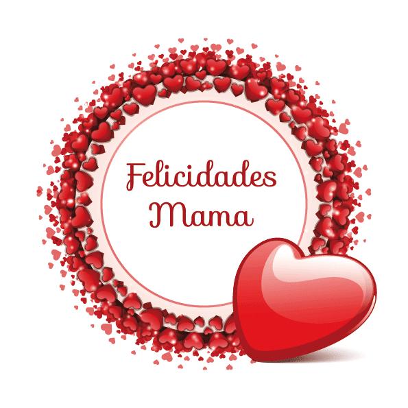Muchos corazones para mamá