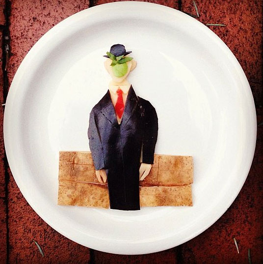 Food Art Harley Langberg René Magritte's The Son of Man