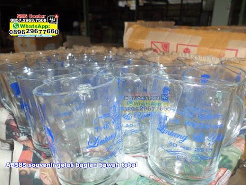souvenir gelas bagian bawah tebal jual