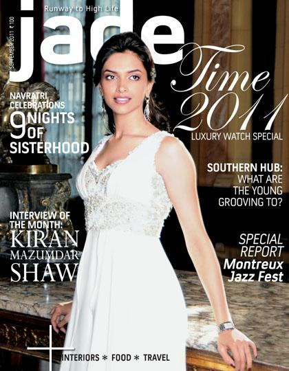 Deepika Padukone - Deepika Padukone On Jade Magazine Cover September 2011 Issue