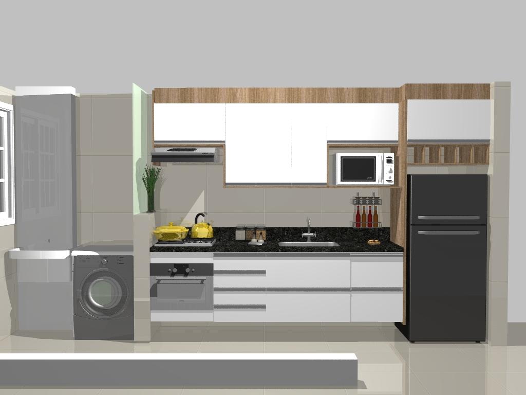 Reforma do meu apê: Planejados Cozinha e lavanderia #A48E27 1024 768