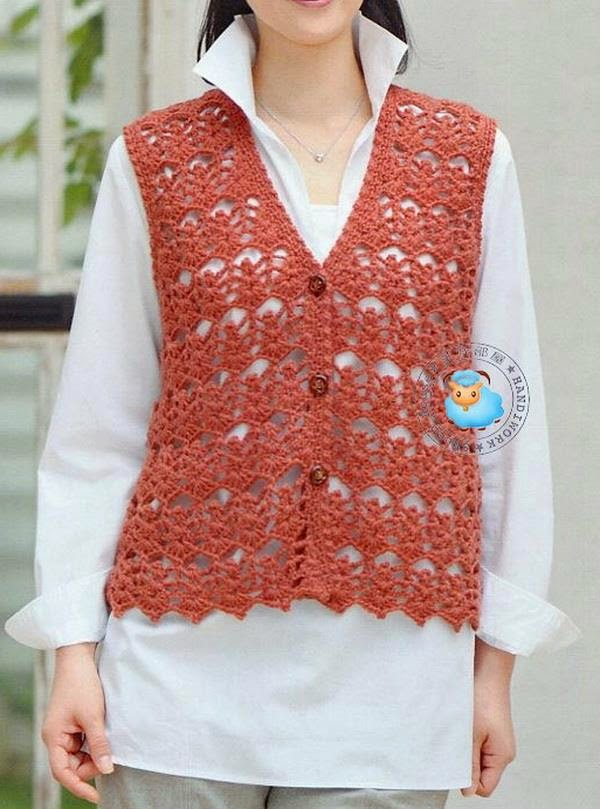 Crochet Sweaters: Crochet Vest Patterns - Simple and Stylish