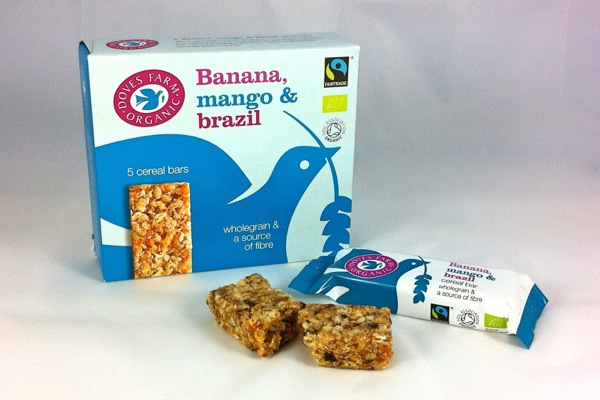 Doves Farm Banana, Mango and Brazil nut cereal bars
