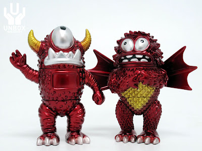 Unbox Industries - San Diego Comic-Con 2011 Exclusive Profondo Rosso Edition M 5 Bravo & Stee-Gar Vinyl Figures by Jeff Lamm