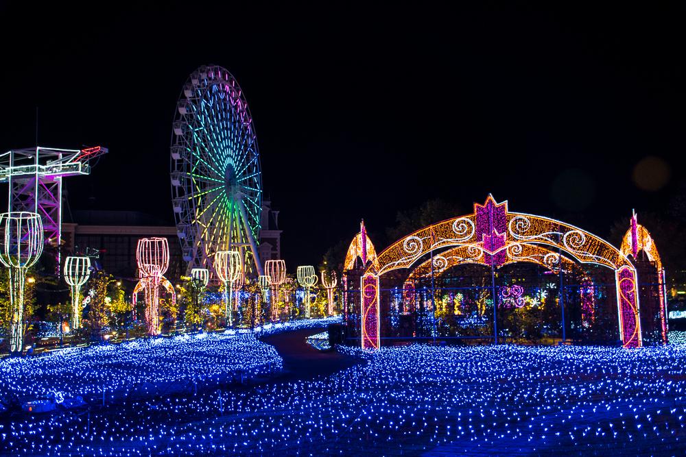 amsterdam in japan huis ten bosch at night