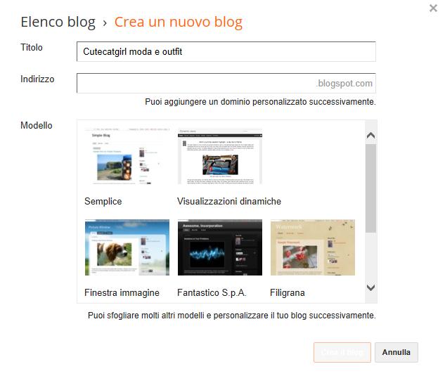 guida creare un blog su blogspot