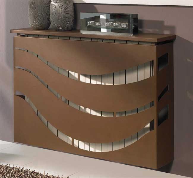 Muebles de forja cubrir el radiador con forja - Muebles para cubrir radiadores ...