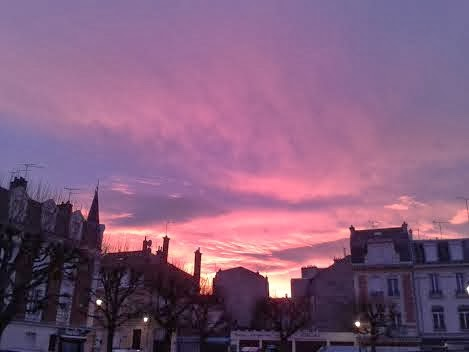 Matin rose à Reims