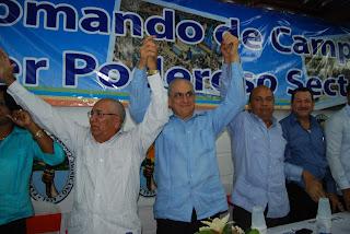 Sector Externo PRD inaugura comando de campaña SDE; juramenta vicepresidente Nacional PQDC