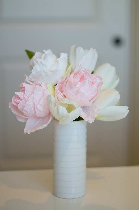 how to make paper peonies