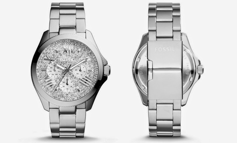 christmas-gift-ideas-fossil-stainless-steel-watch-with-crystals