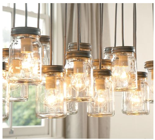 diy mason jar chandelier part 1. Black Bedroom Furniture Sets. Home Design Ideas
