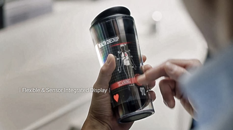 Samsung Smart Display Video Concept of Future - interactive coffee cup