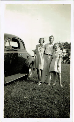 Patsy Davis to left and Jacqueline Davis to right with unidentified male relative