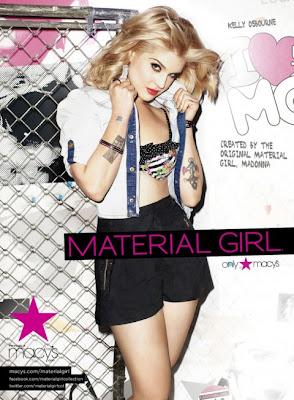 kelly osbourne modelt für material girl