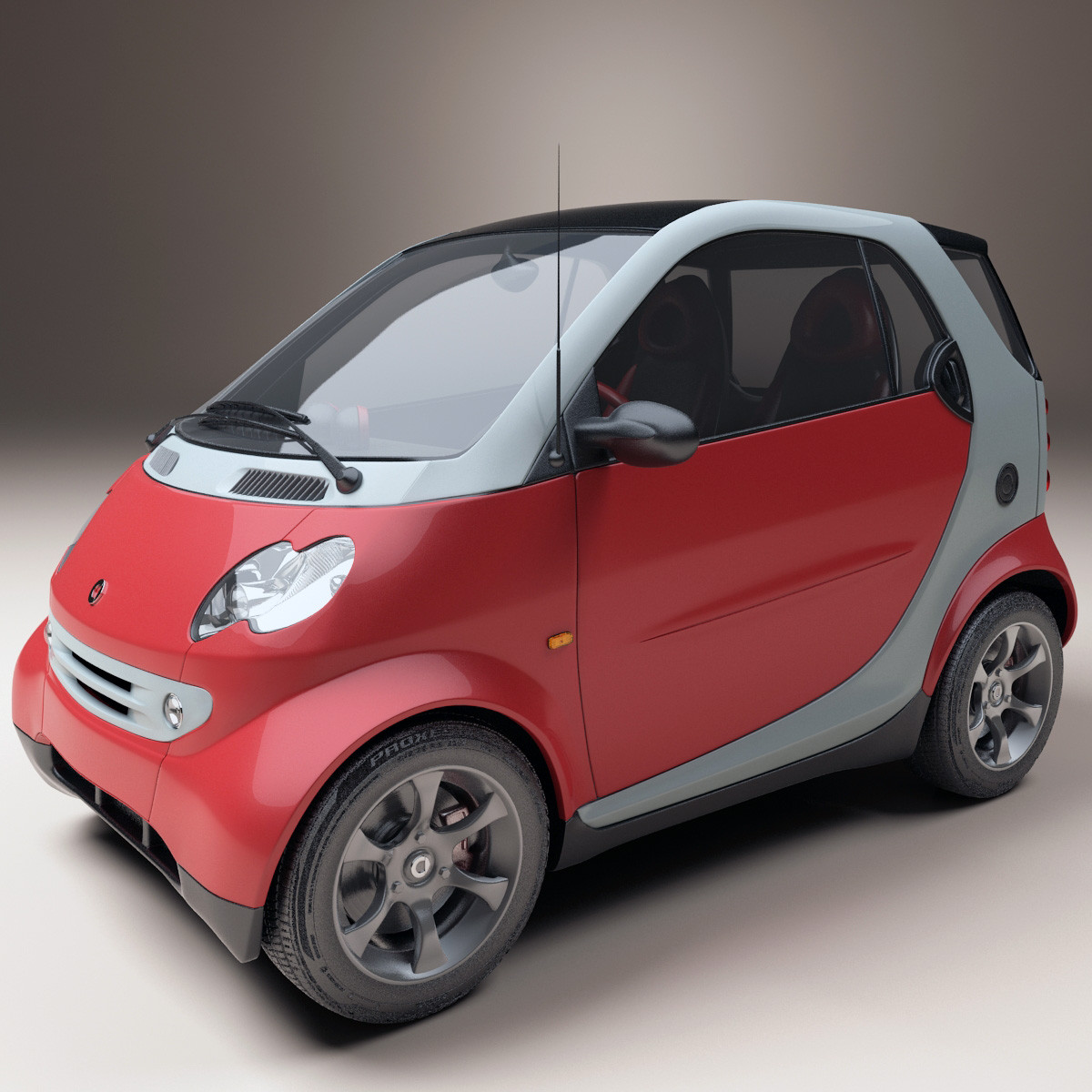 3d and 2d graphic 3d model mercedes benz smart fortwo for Smart car mercedes benz
