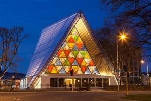 Cardboard cathedral opens in quake-struck New Zealand city