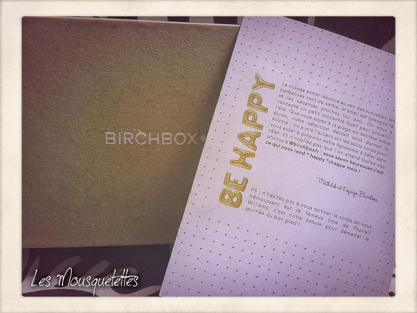 Birchbox Juin 2014 Be Happy - Les Mousquetettes©