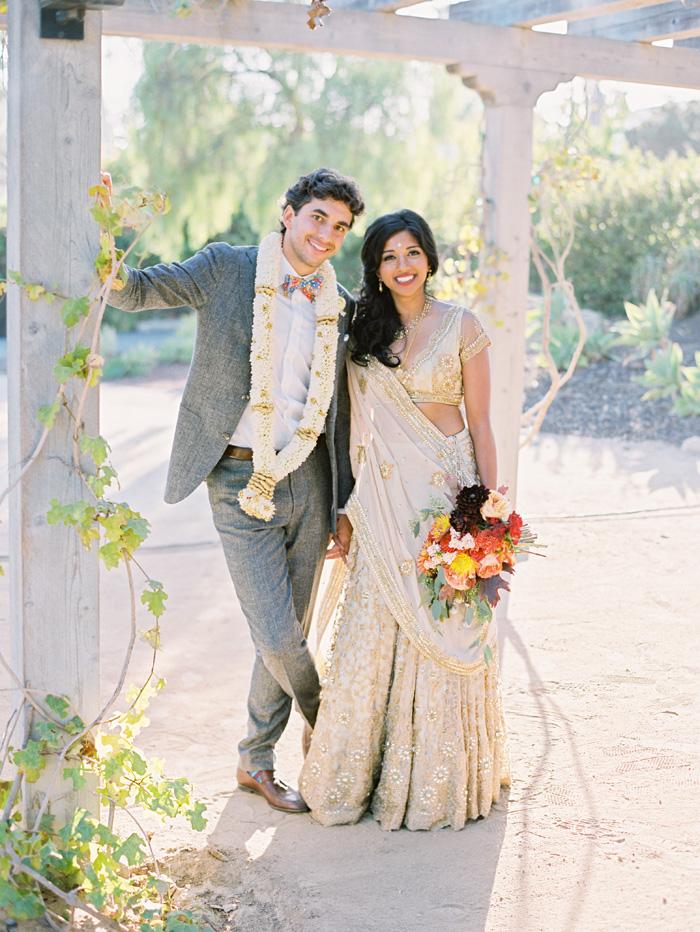 Indian Fall Wedding At The Santa Barbara Historical Museum