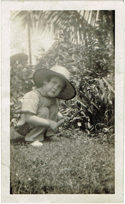 Mrs C J McKinnon of Baltimore MD as child in Central America
