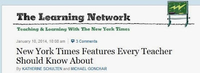 http://learning.blogs.nytimes.com/2014/01/10/new-york-times-features-every-teacher-should-know-about/