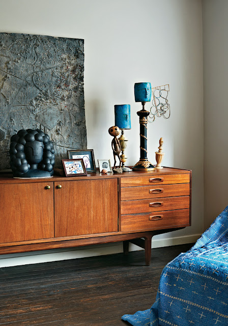Mid-Century Sideboard in Teak plus Blau