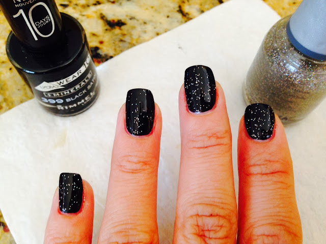 Spooky at home manicure