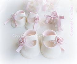 Chic Cake Shoes Con Rosa