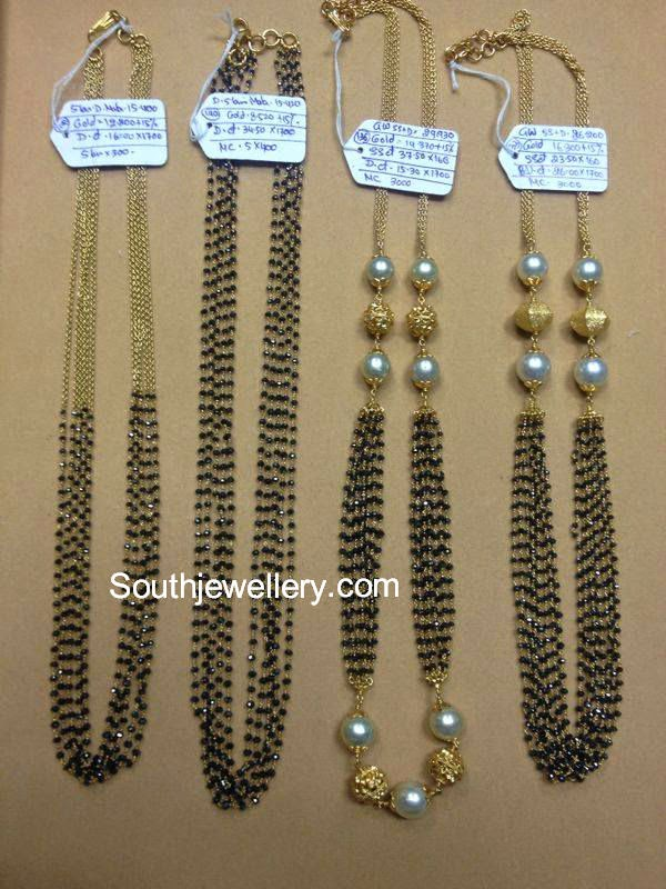 black beads mangalsutra latest designs