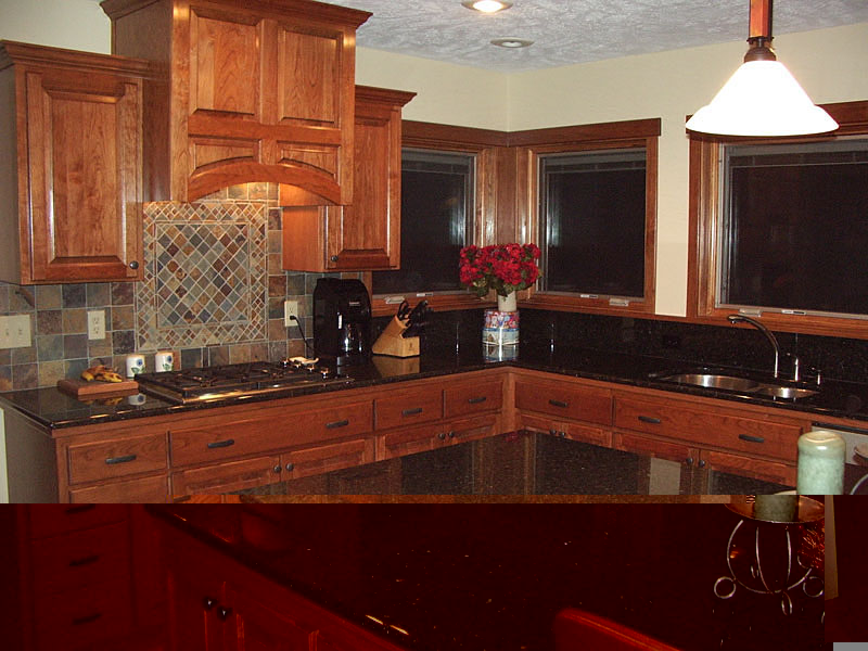 Cherry Wood Kitchen Cabinets Design