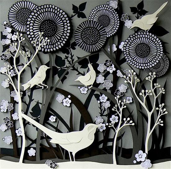 Wall Design Paper Cutting : Creative sketchbook helen musselwhite s multi layered d