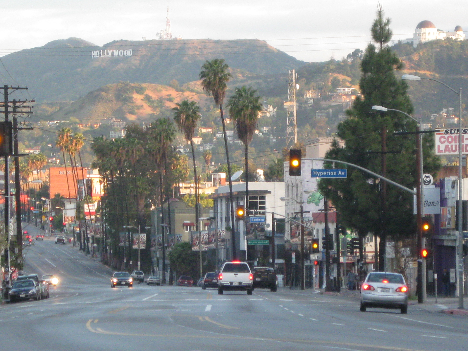 Hollywood Sign Sunset Boulevard