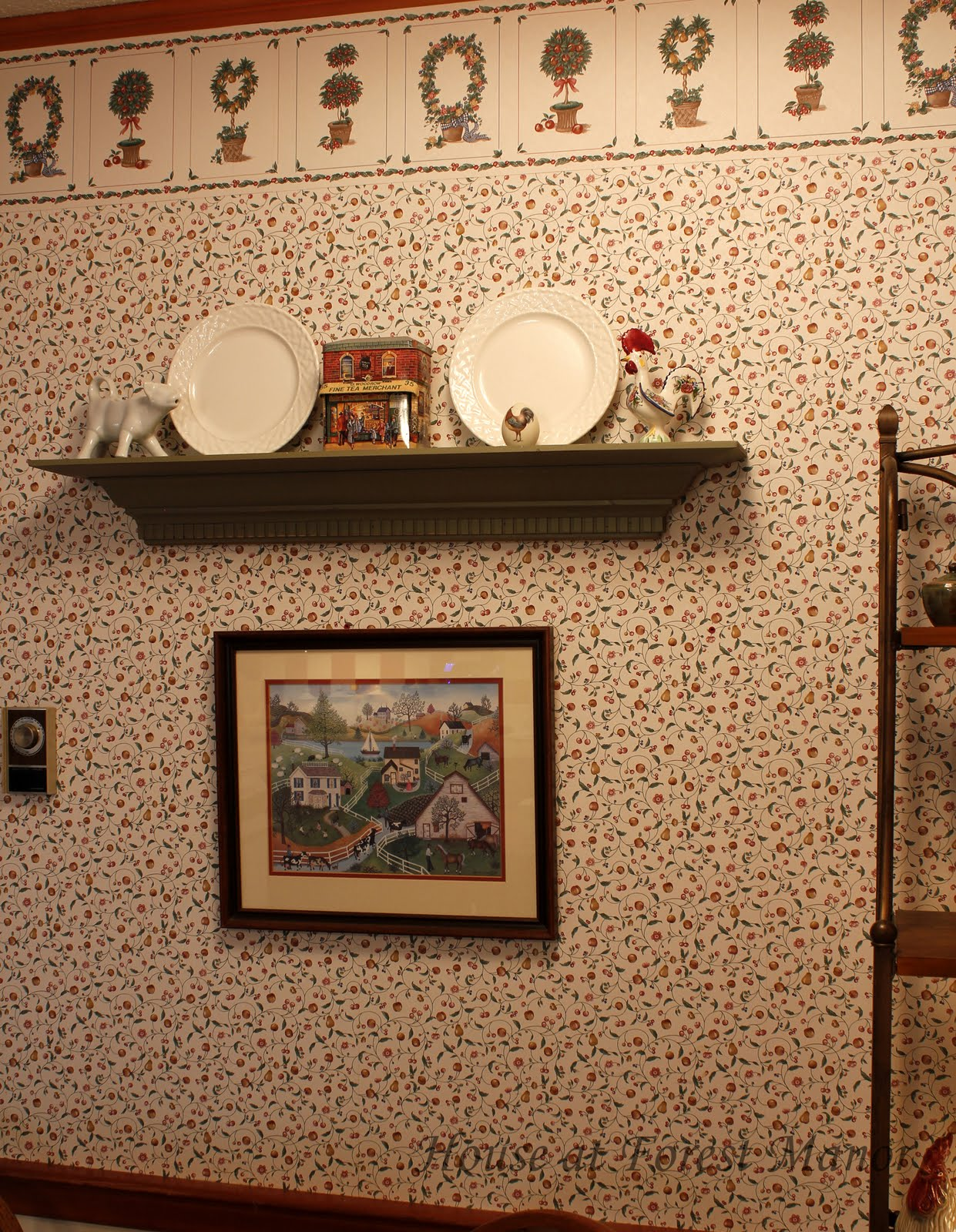 French cafe curtains for kitchen - Sellers Told Us The Name Of The Wallpaper Pattern Was Quot French Country