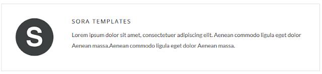 contoh teks lorem ipsum pada sora templates preview