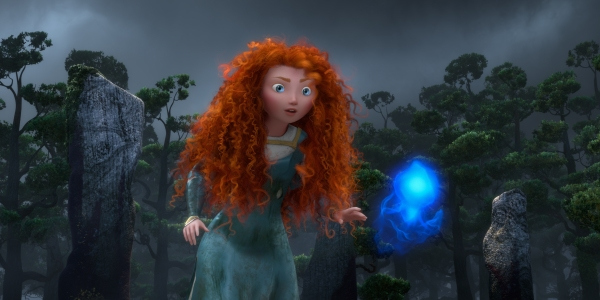 Merida running through the woods at night in Brave 2012 disneyjuniorblog.blogspot.com