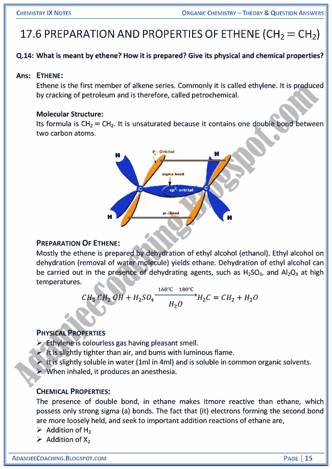 organic-chemistry-theory-notes-and-question-answers-chemistry-ix