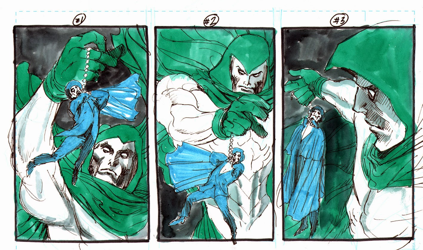 Making of a cover: PHANTOM STRANGER #20 by Guillem March