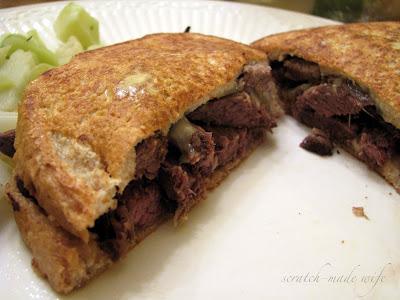 venison sandwich