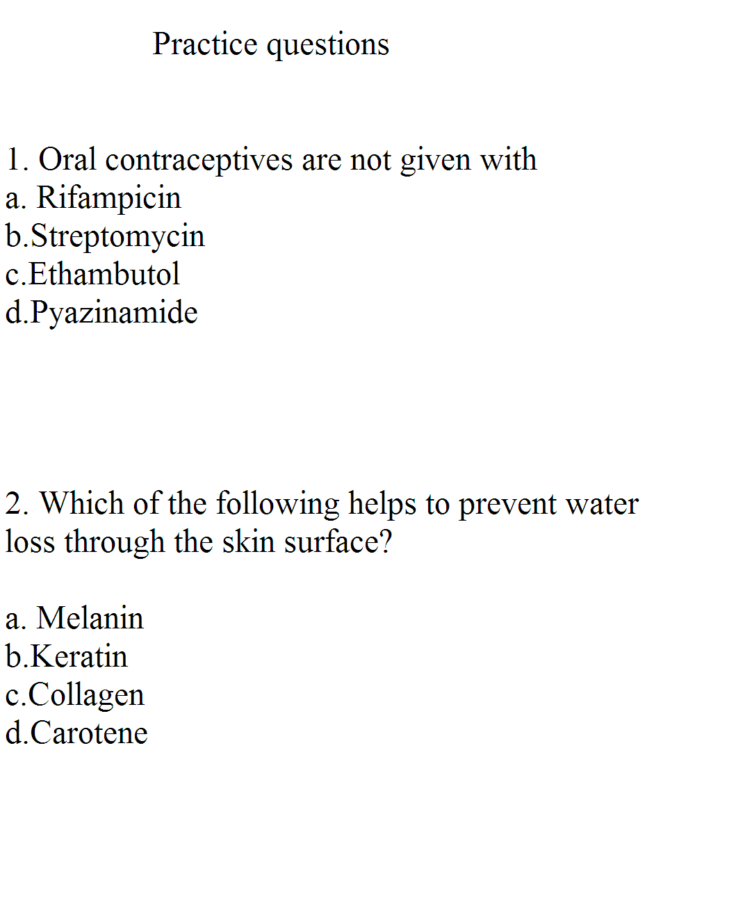 HAAD-MOH-DHA-PROMETRIC-RN SUPPORT: PRACTICE QUESTIONS