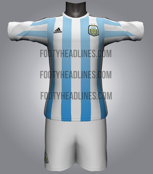 Camiseta de la Selección Argentina Mundial 2014