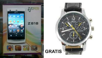 Zuper Z818, Hp TV Layar Sentuh Murah, Dual SIM, Mirip Sony Xperia Harga 500 Ribuan
