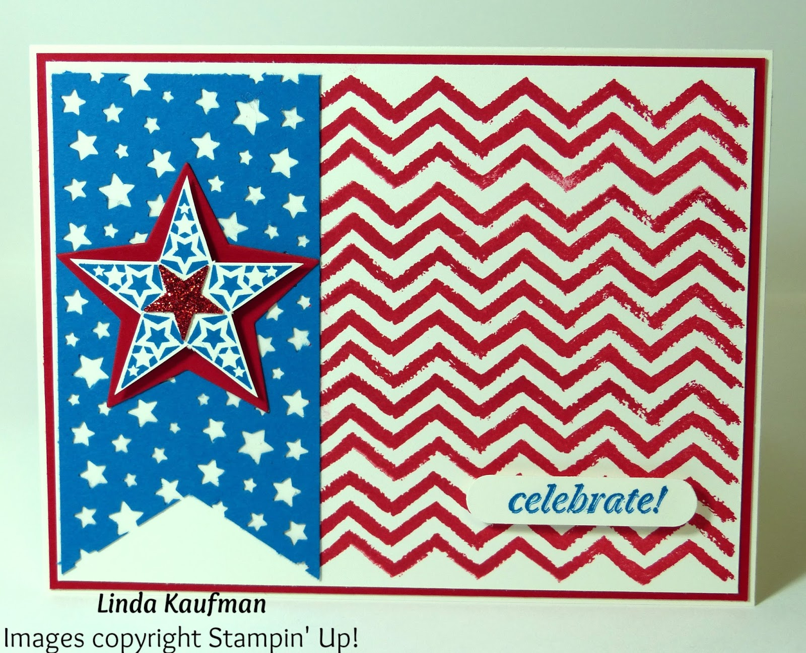 linda k s stampin page stampin up work of art fourth of july card