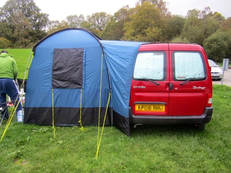 As with putting up a tent for the first time and having lost the instructions in the first 5 mins our first go took a bit longer but we traveled to two ... & Me Go Berlingo Camper O: Morning Awning