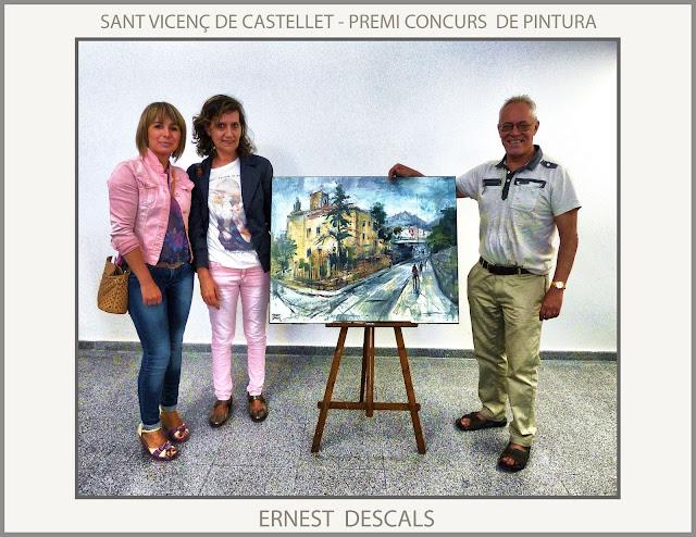 SANT VICENÇ DE CASTELLET-PINTURA-CONCURS -PREMIS-PINTURES-CENTRE CULTURAL-FOTOS-ARTISTA-PINTOR-ERNEST DESCALS-