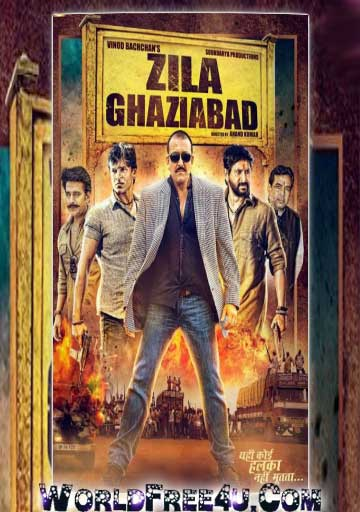 Poster Of Bollywood Movie Zila Ghaziabad (2013) 300MB Compressed Small Size Pc Movie Free Download worldfree4u.com