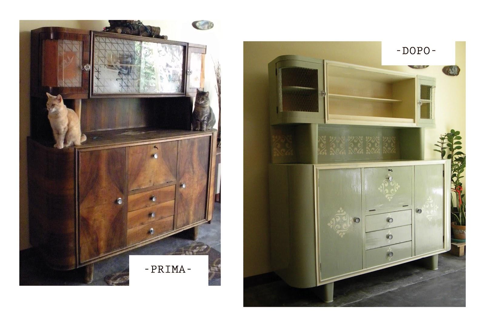 Sferruzz&Co: Prima e dopo/Credenza vintage: come ripararla/Ritorno ...