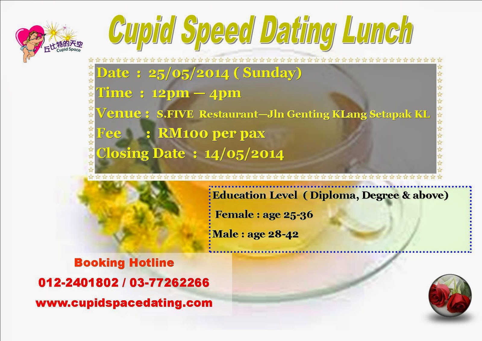 lunch actually speed dating Esync is a service under the lunch actually group, the dating agency with largest database in singapore the agency also has offices in malaysia, hongkong.