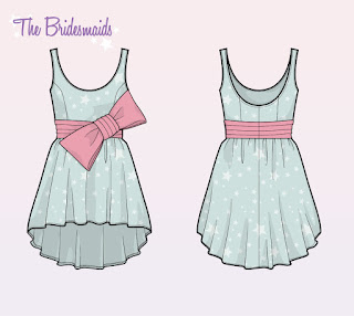unicorn-dress, star-print-dress, star-dress, big-bow-dress, big-pink-bow