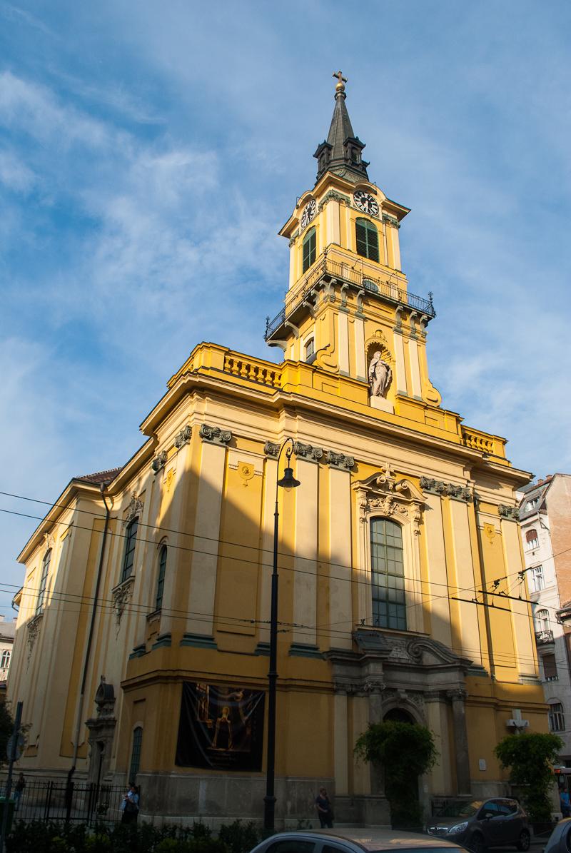 Yellow Church in Budapest Hungary