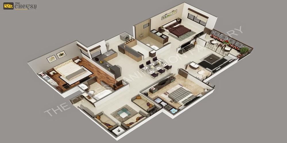 3D Floor Plan | 3D Floor Plan For House